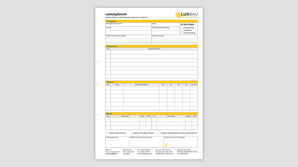 Corporate Design Arbeitsbericht Passau