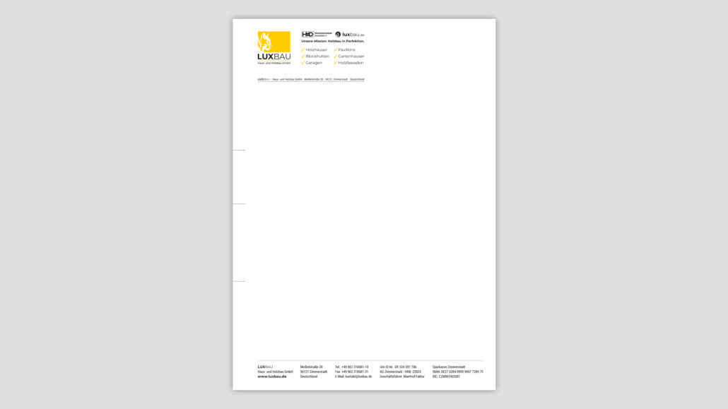 Corporate Design Briefpapier Passau