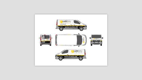 Corporate Design Fahrzeugbeschriftung Passau