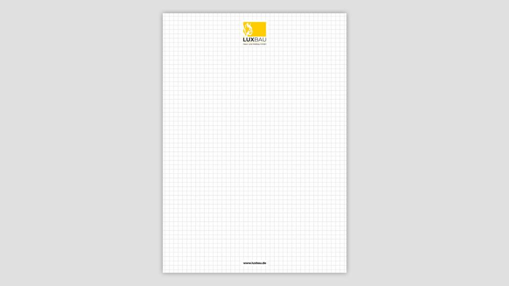 Corporate Design Notizblock Passau
